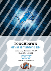 Detroit Lions Personalized Digital Party Invitation #17 (any occasion)