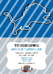 Detroit Lions Personalized Digital Party Invitation #18 (any occasion)