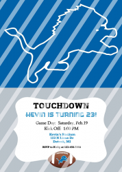 Detroit Lions Personalized Digital Party Invitation #19 (any occasion)