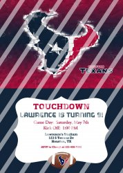 Houston Texans Personalized Digital Party Invitation #11 (any occasion)