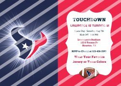 Houston Texans Personalized Digital Party Invitation #13 (any occasion)