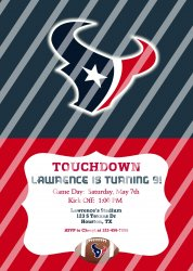 Houston Texans Personalized Digital Party Invitation #14 (any occasion)
