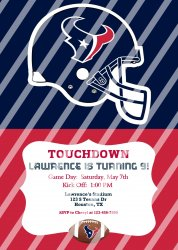 Houston Texans Personalized Digital Party Invitation #22 (any occasion)