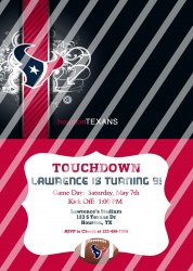 Houston Texans Personalized Digital Party Invitation #25 (any occasion)