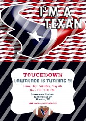 Houston Texans Personalized Digital Party Invitation #27 (any occasion)