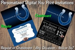 Indianapolis Colts Digital Party Invitation #6 (Regular or Chalkboard)