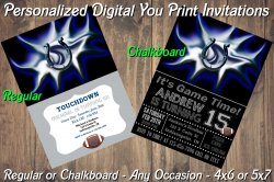 Indianapolis Colts Digital Party Invitation #7 (Regular or Chalkboard)