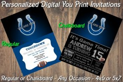 Indianapolis Colts Digital Party Invitation #8 (Regular or Chalkboard)