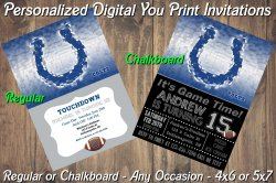 Indianapolis Colts Digital Party Invitation #9 (Regular or Chalkboard)