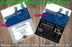 Indianapolis Colts Digital Party Invitation #10 (Regular or Chalkboard)