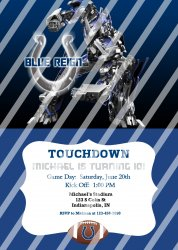 Indianapolis Colts Personalized Digital Party Invitation #11 (any occasion)