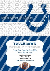 Indianapolis Colts Personalized Digital Party Invitation #12 (any occasion)