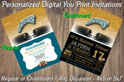 Jacksonville Jaguars Digital Party Invitation #1 (Regular or Chalkboard)
