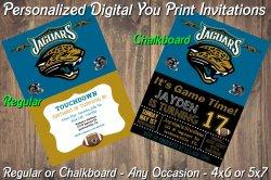 Jacksonville Jaguars Digital Party Invitation #2 (Regular or Chalkboard)