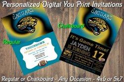 Jacksonville Jaguars Digital Party Invitation #3 (Regular or Chalkboard)