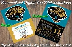 Jacksonville Jaguars Digital Party Invitation #4 (Regular or Chalkboard)