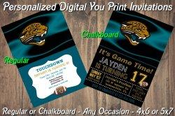 Jacksonville Jaguars Digital Party Invitation #5 (Regular or Chalkboard)