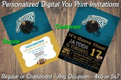 Jacksonville Jaguars Digital Party Invitation #6 (Regular or Chalkboard)