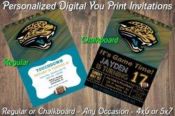 Jacksonville Jaguars Digital Party Invitation #7 (Regular or Chalkboard)