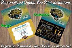 Jacksonville Jaguars Digital Party Invitation #8 (Regular or Chalkboard)