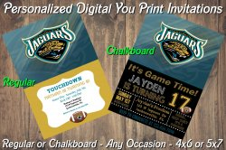 Jacksonville Jaguars Digital Party Invitation #9 (Regular or Chalkboard)