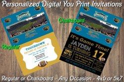 Jacksonville Jaguars Digital Party Invitation #10 (Regular or Chalkboard)