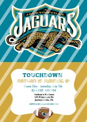 Jacksonville Jaguars Personalized Digital Party Invitation #11 (any occasion)