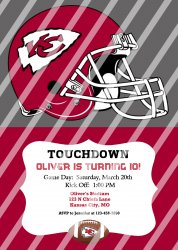 Kansas City Chiefs Personalized Digital Party Invitation #11 (any occasion)
