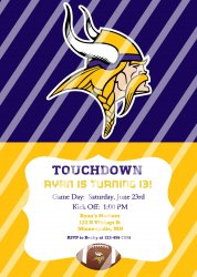 Minnesota Vikings Personalized Digital Party Invitation #11 (any occasion)