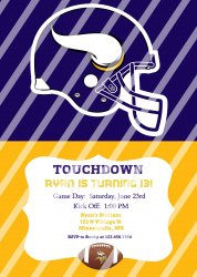 Minnesota Vikings Personalized Digital Party Invitation #14 (any occasion)