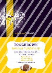 Minnesota Vikings Personalized Digital Party Invitation #18 (any occasion)