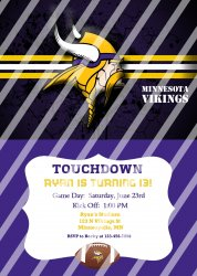 Minnesota Vikings Personalized Digital Party Invitation #20 (any occasion)