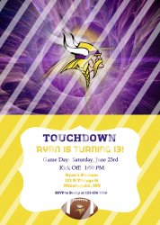 Minnesota Vikings Personalized Digital Party Invitation #29 (any occasion)