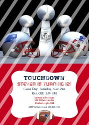 New England Patriots Personalized Digital Party Invitation #11 (any occasion)