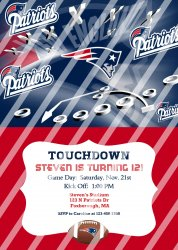 New England Patriots Personalized Digital Party Invitation #12 (any occasion)