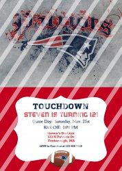 New England Patriots Digital Personalized Party Invitation #13 (any occasion)