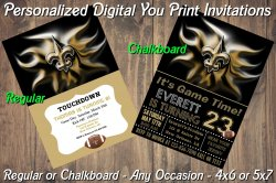 New Orleans Saints Digital Party Invitation #4 (Regular or Chalkboard)