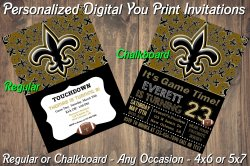 New Orleans Saints Digital Party Invitation #8 (Regular or Chalkboard)