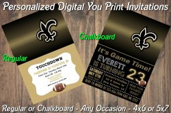 New Orleans Saints Digital Party Invitation #9 (Regular or Chalkboard)