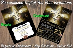 New Orleans Saints Digital Party Invitation #10 (Regular or Chalkboard)