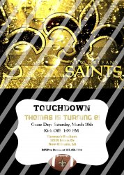 New Orleans Saints Personalized Digital Party Invitation #11 (any occasion)