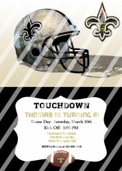 New Orleans Saints Personalized Digital Party Invitation #12 (any occasion)