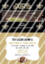 New Orleans Saints Personalized Digital Party Invitation #13 (any occasion)