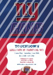 New York Giants Personalized Digital Party Invitation #11 (any occasion)