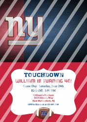New York Giants Personalized Digital Party Invitation #12 (any occasion)