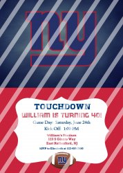New York Giants Personalized Digital Party Invitation #13 (any occasion)