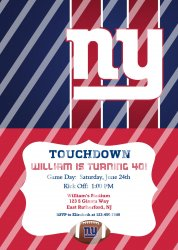 New York Giants Personalized Digital Party Invitation #14 (any occasion)