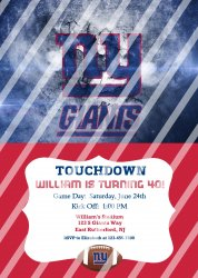 New York Giants Personalized Digital Party Invitation #17 (any occasion)