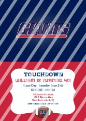 New York Giants Personalized Digital Party Invitation #18 (any occasion)