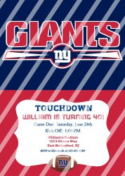 New York Giants Personalized Digital Party Invitation #20 (any occasion)